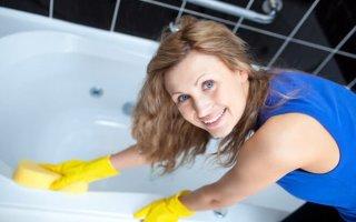 Как почистить ванну от налета содой?