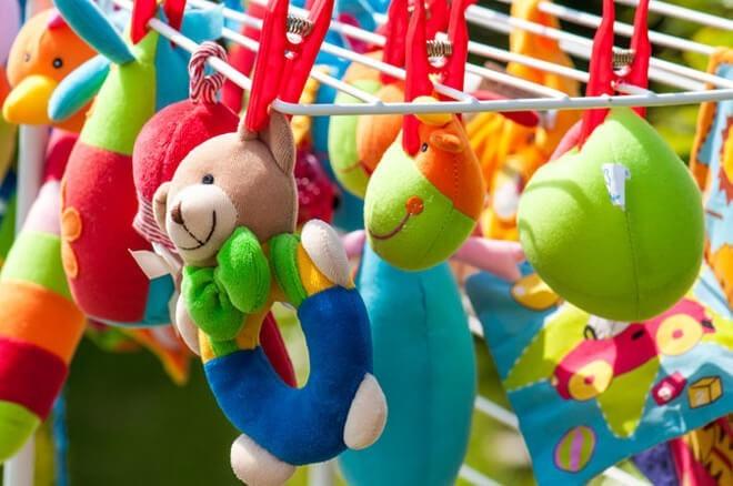 постиранные плюшевые игрушки