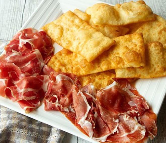 итальянские солёные пончики ньюкко фритто