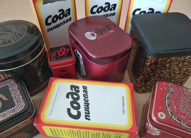 жестяные контейнеры для соды