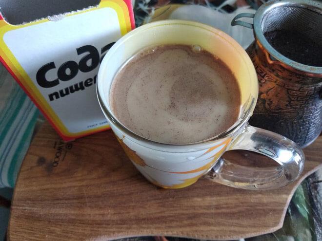 кофе с добавлением соды