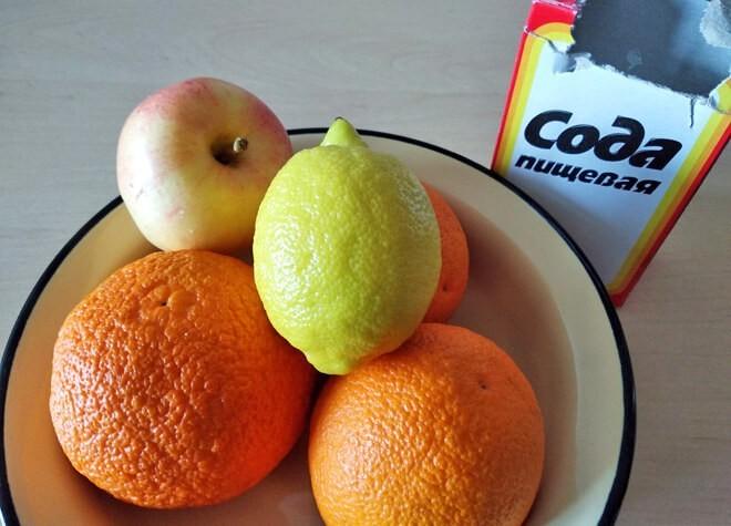 фрукты с содой