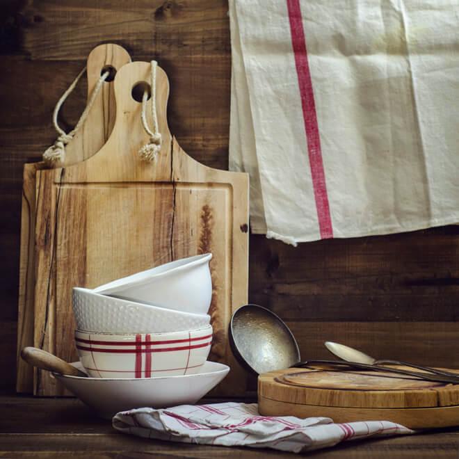 сода от пятен на кухонным полотенцах