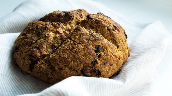 содовый хлеб с розмарином