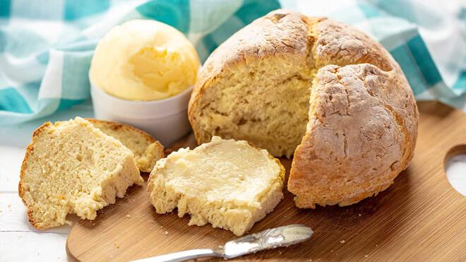 домашний содовый хлеб на кефире